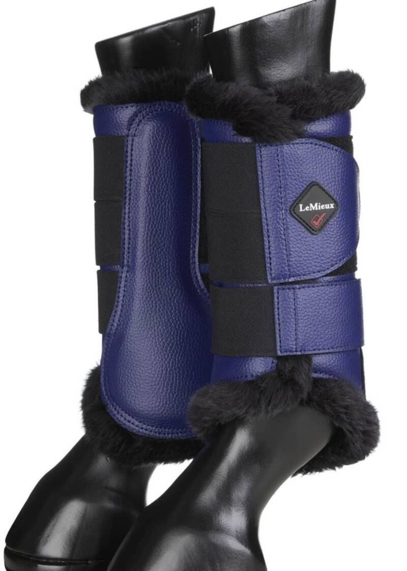 Le Mieux Fleece Lined Brushing Boots Blue #