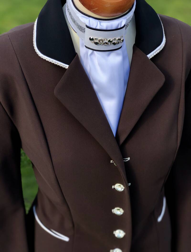 Competition Jacket Brown White