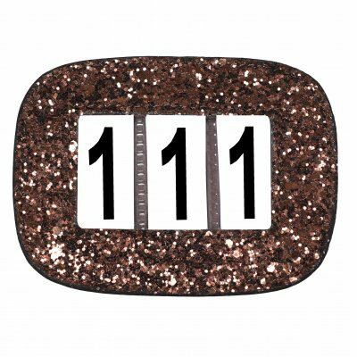 Competition Numbers Glitter Brown