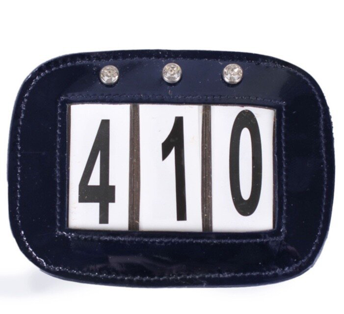 Competition Numbers Blue Lack
