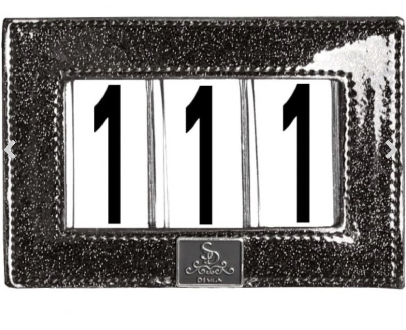 Competition Number Holder Mystery Black Glitter