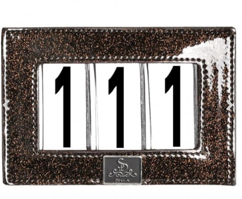 Competition Number Holder Mystery Brown Glitter