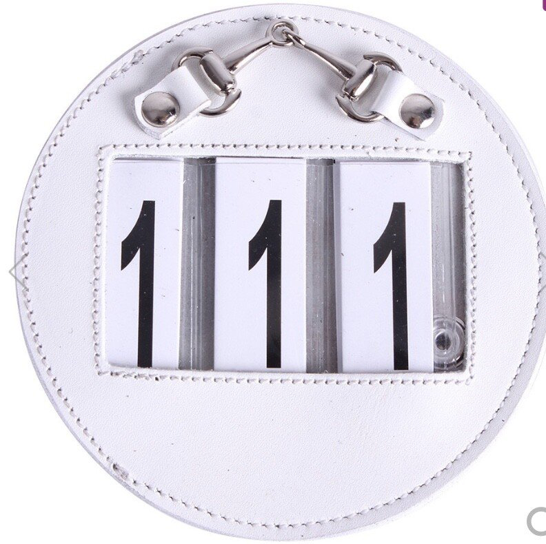 Competition Number Holder White Round