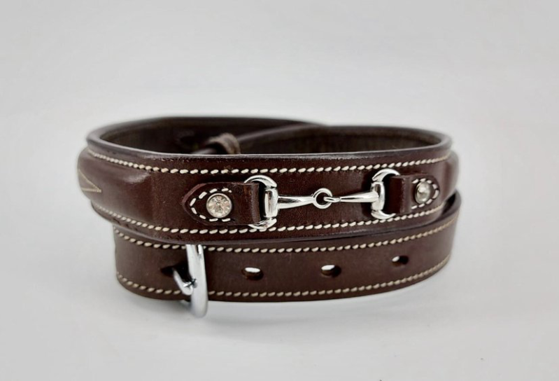 *New Colors* Equestrian Belt Snaffles Rose Gold and Dark Brown **