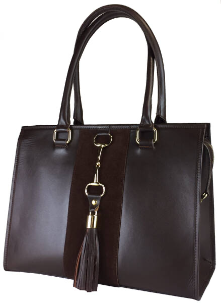 Alice Equestrian Bag Gold Label Edition Brown