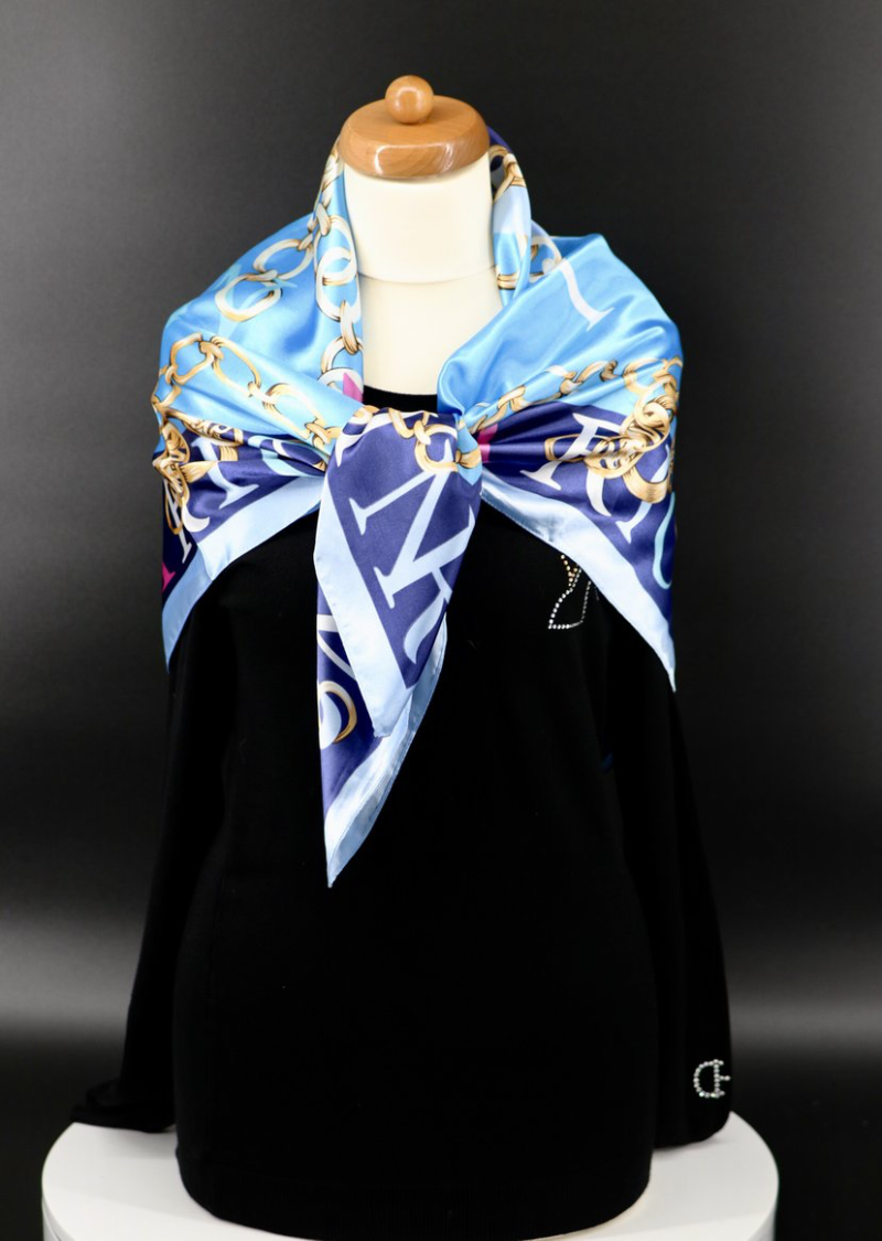 Scarf Equestrian Style Silky Feel 3 colors