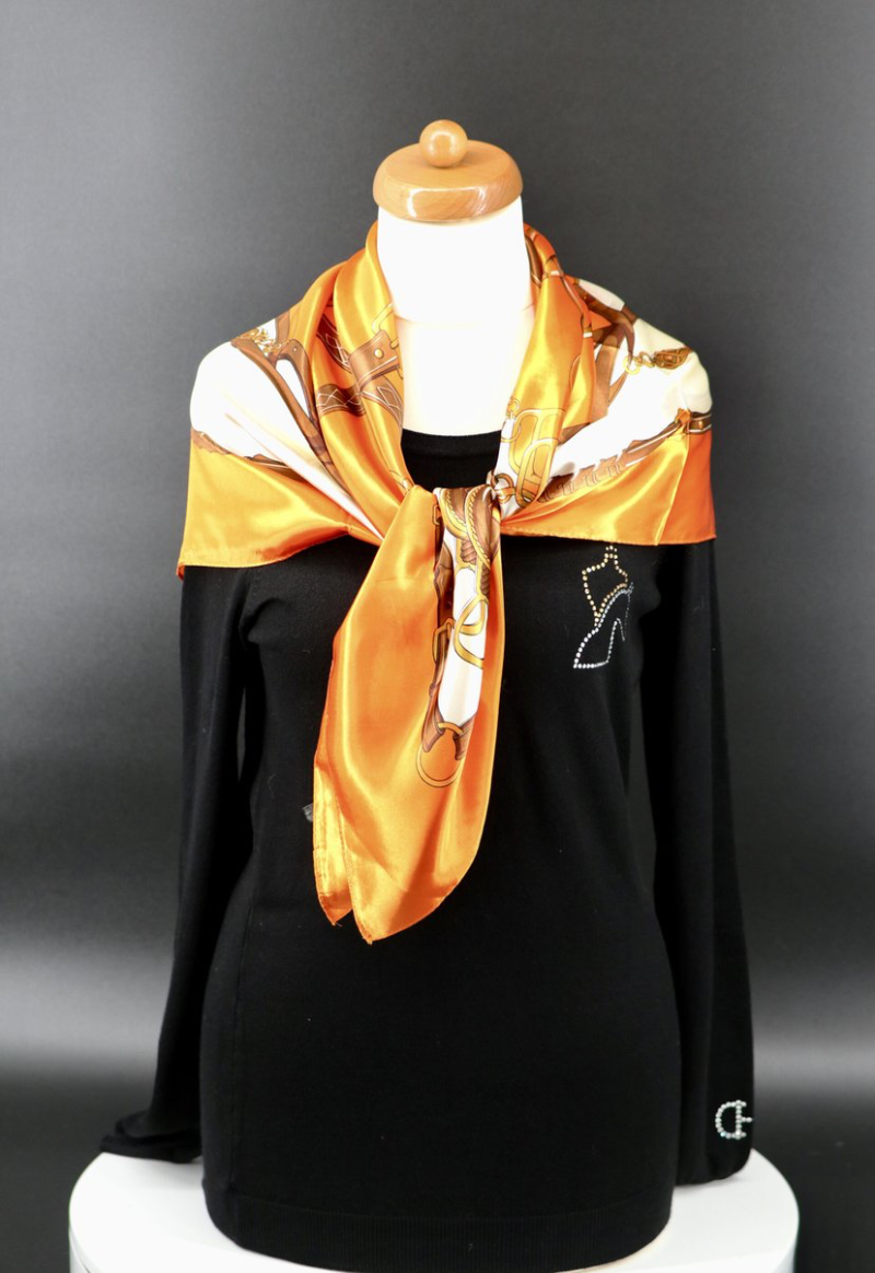 Scarf Equestrian Style Classic Silky Feel 2 colors