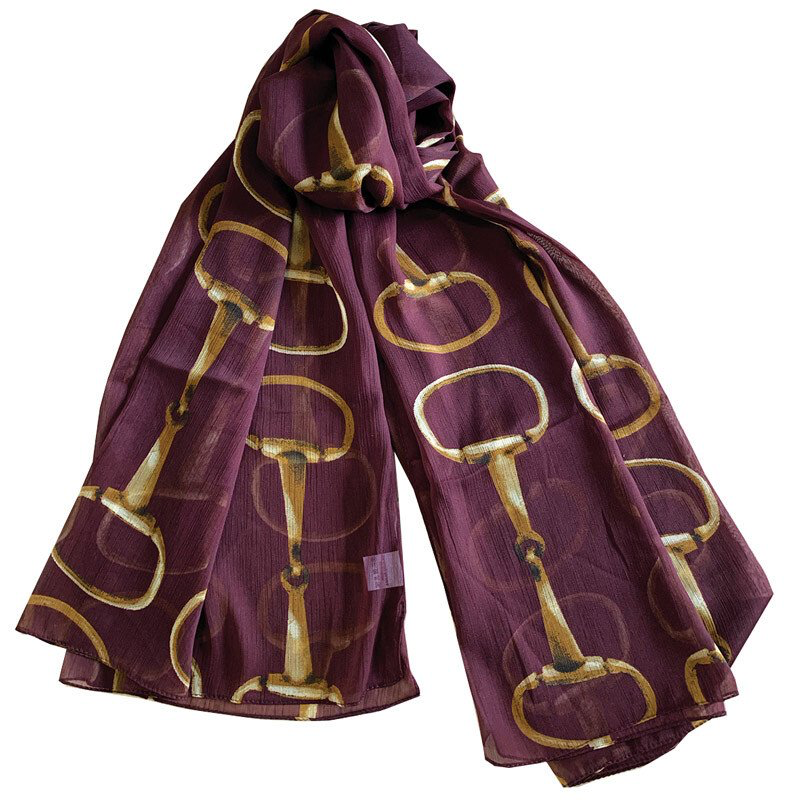 Equestrian Style Scarf Snaffle 6 colors