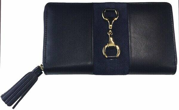 Alice Equestrian Purse Gold Label Edition Navy