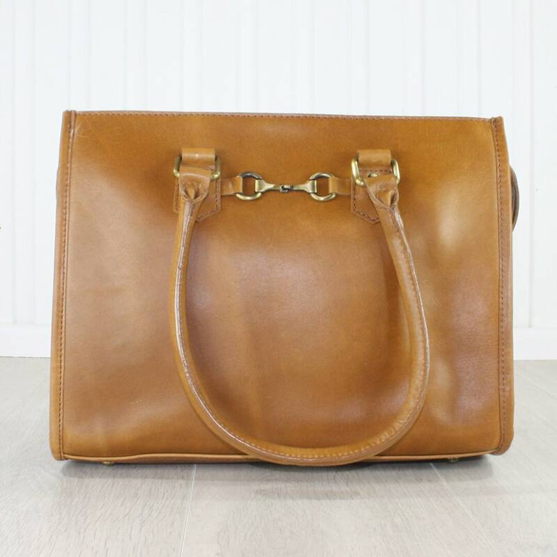 Abigail Equestrian Handbag In Antique Tan