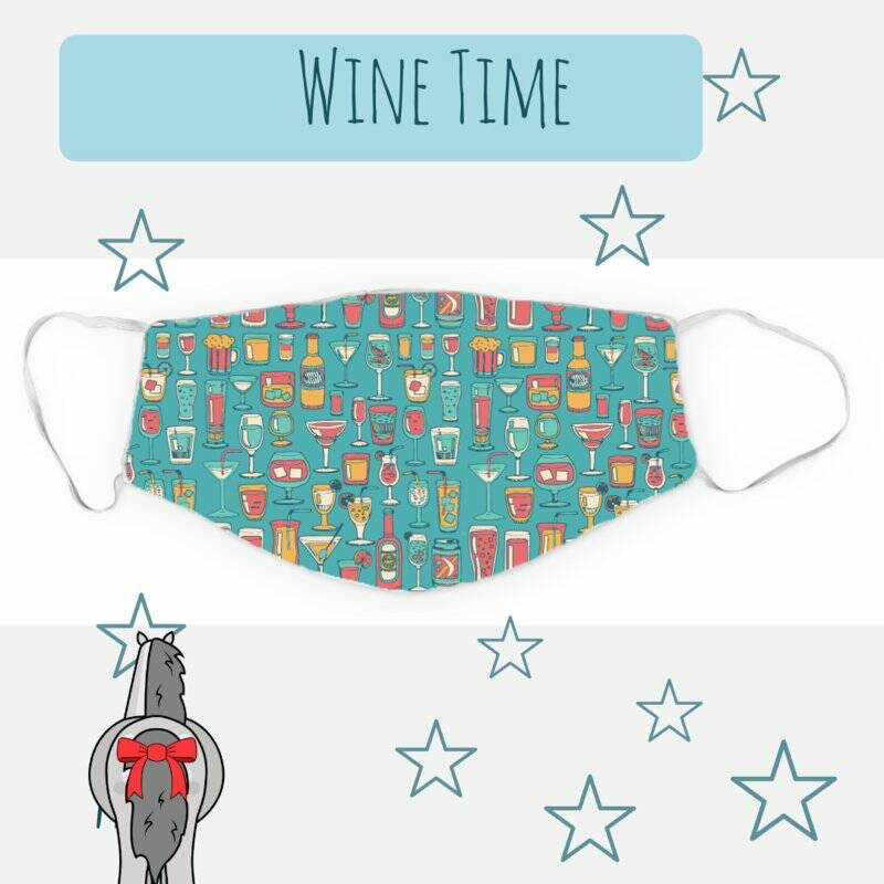 Equestrian Mask Wine Time