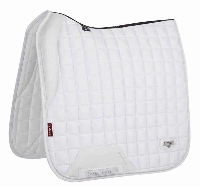 LeMieux Memory Satin Dressage Square Wit