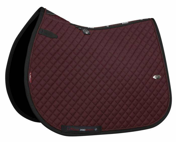 LeMieux Wither Relief Mesh Jumping Pad Burgundy