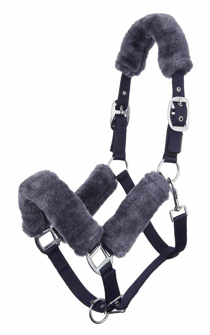LeMieux Comfort Fleece Headcollar Navy-Grey