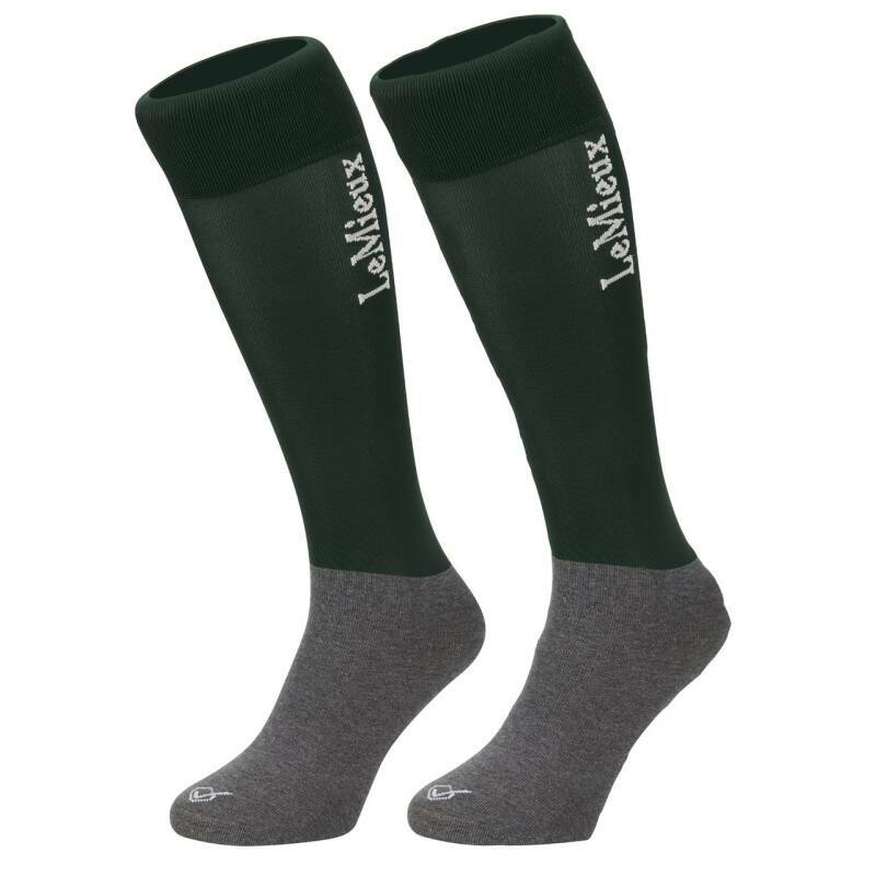 LeMieux Competition Sock Green (Twin Pack) #
