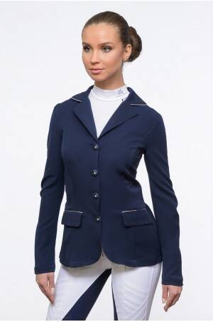 Cavalliera Riding Show Jacket Crystal Purity Blue