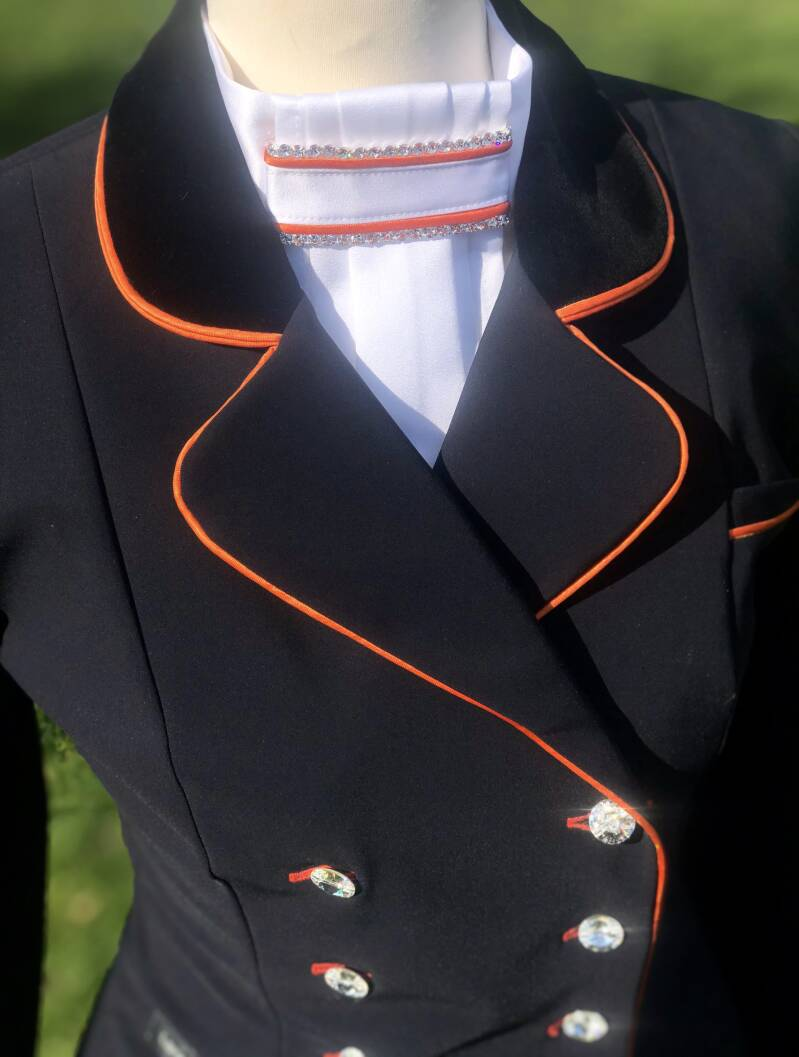 Tailcoat Dressage Frack Black-Orange