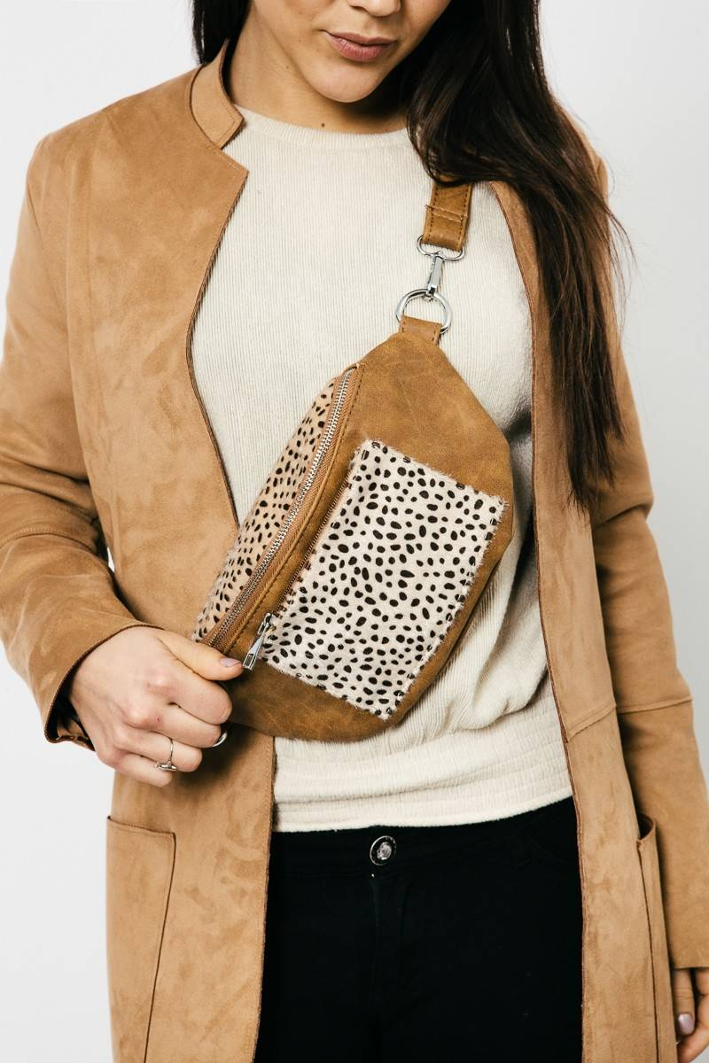 Heuptasje/ cross body animal print
