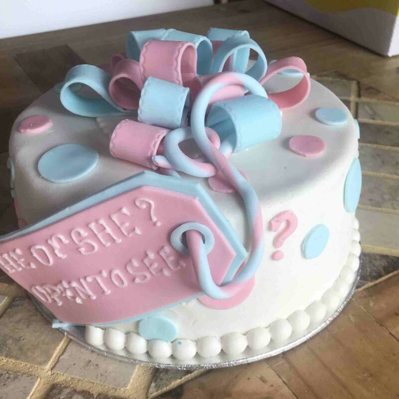 Gender Reveal Taart B v.a. 8 pers