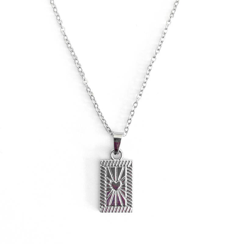 Ketting Heart Tag Zilver
