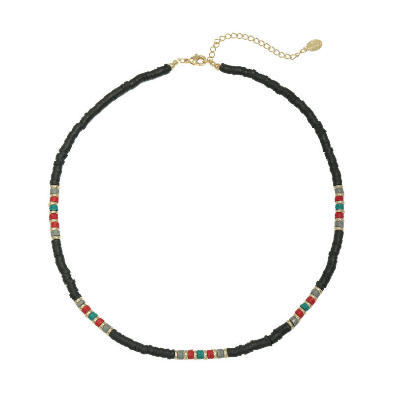 Necklace Colourful Day Zwart