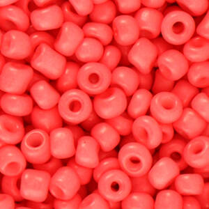 4MM ROCAILLES CORAL RED