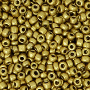 3MM ROCAILLES METALLIC ANTIQUE GOLD