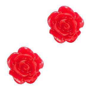 Roosje Kraal 10mm Lollipop red