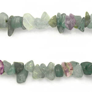 Chips stone kralen Multicolour crystal green purple 25 stuks