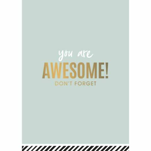 """Wenskaart """"You Are Awesome!"""""""