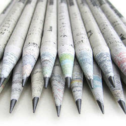 Recycled paper pencils