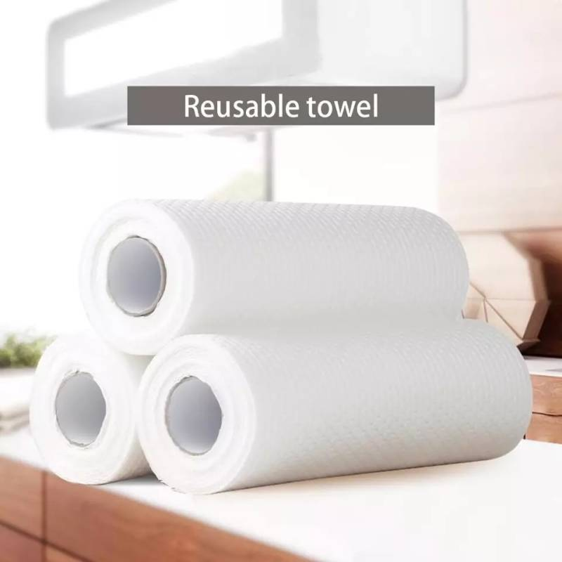 Reusable washable kitchen towel rol