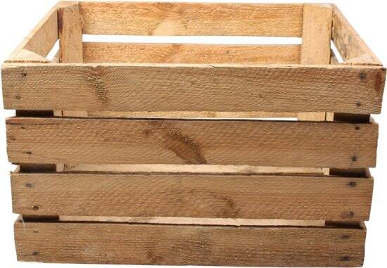 Used wooden crate