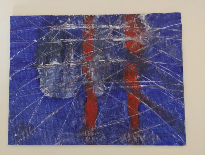 Abstract red and blue