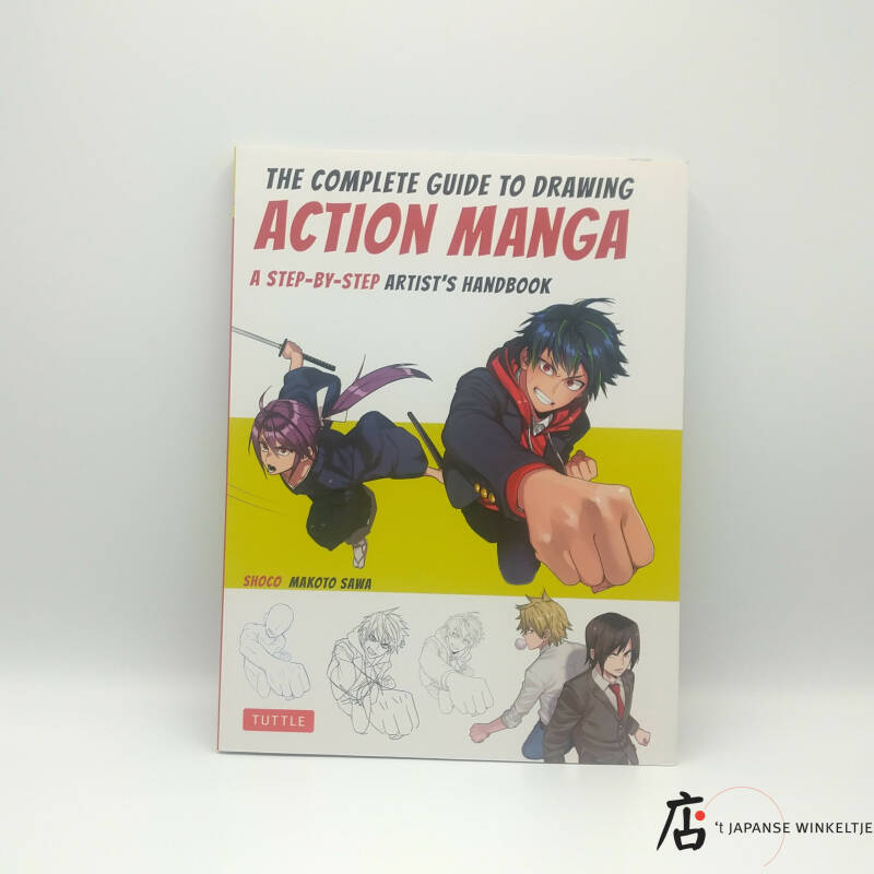 Boek The Complete Guide to Drawing Action Manga, a step-by-step artist's handbook