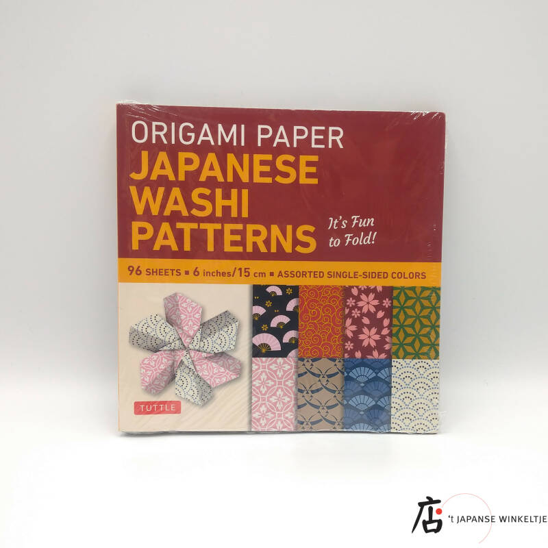 "Origami papier ""Japanese Washi Patterns"" 15 x 15  cm, 96 bl."