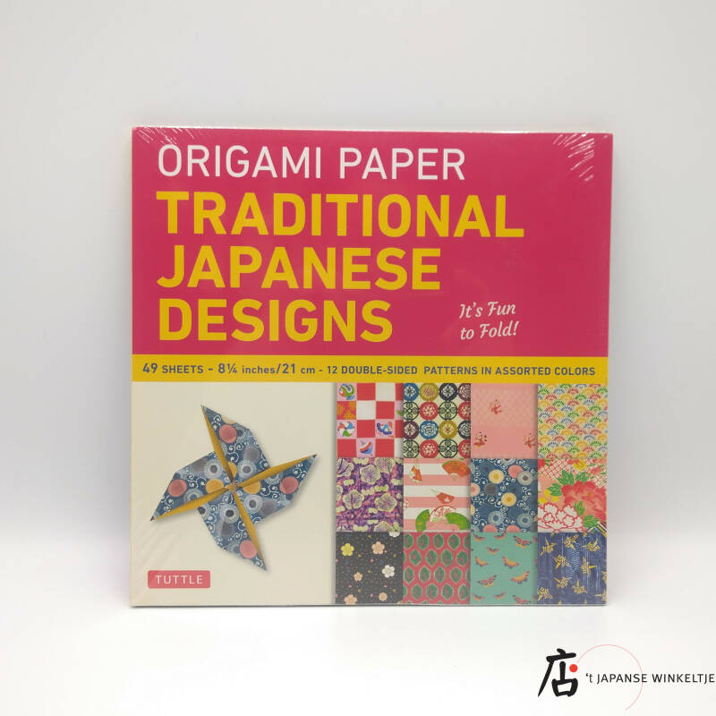 """Origami papier """"Traditional Japanese Designs"""" 21x21 cm, 49 bl."""