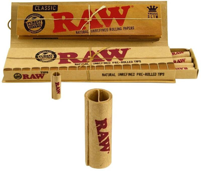 Mortalhas RAW Connoisseur King Size + Pre Rolled Tips