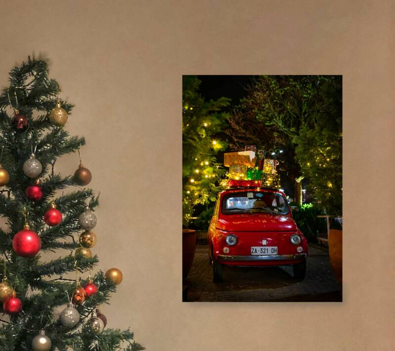 Kerst poster   Auto