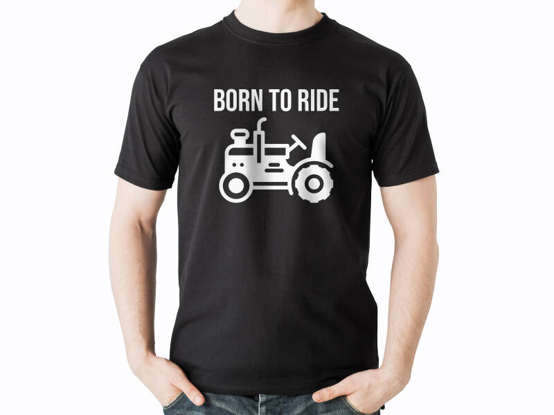 T-shirt 'Born to ride'