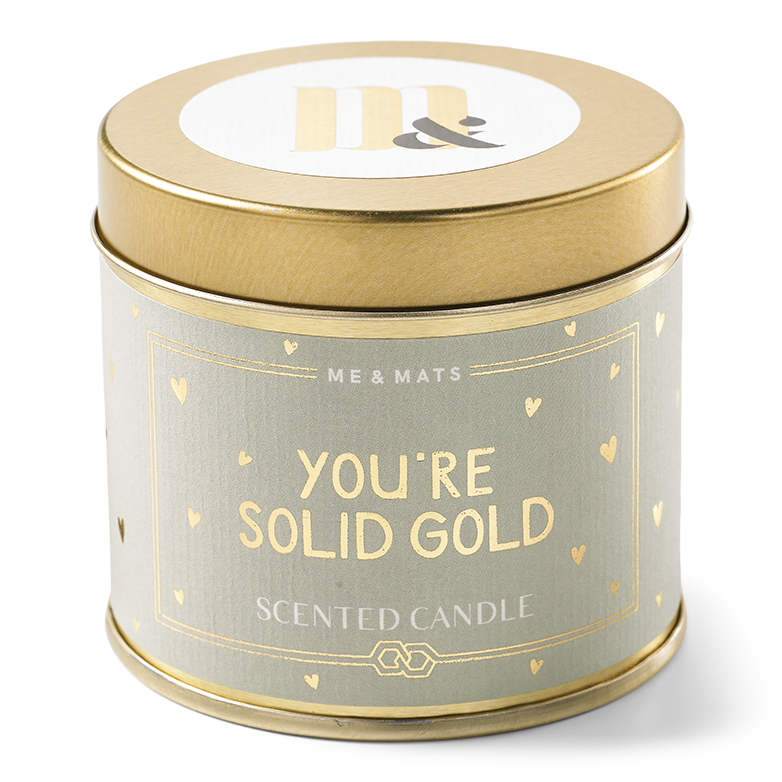 Me&Mats Tin candle - solid gold