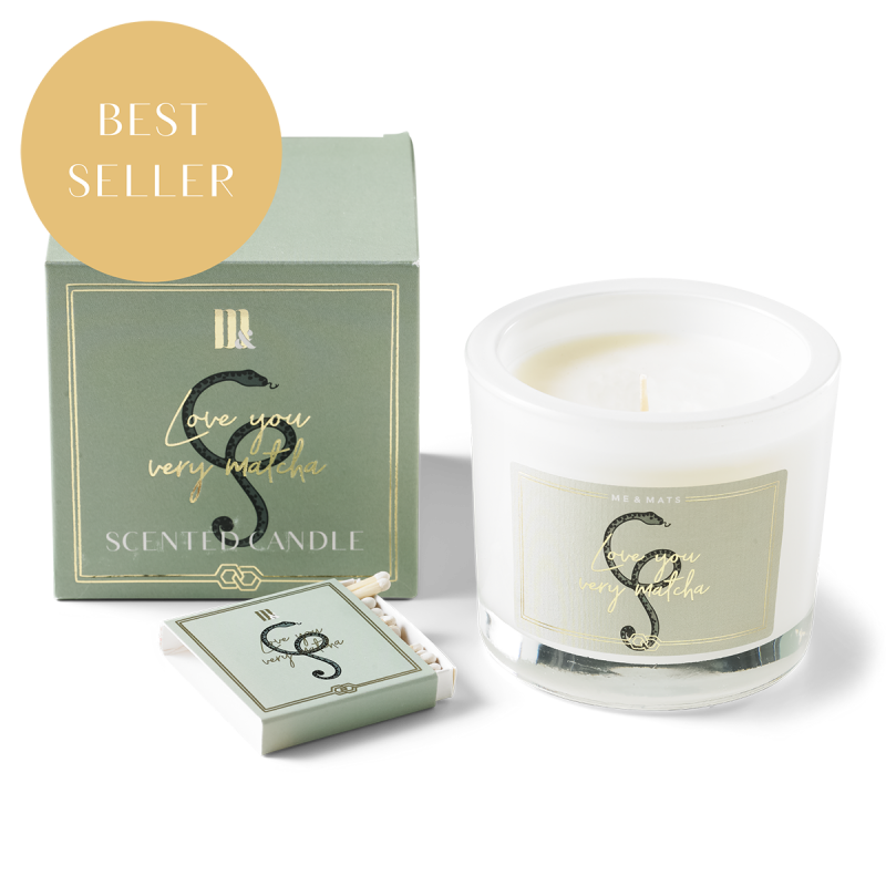 Me&Mats Luxury scented candle - very matcha