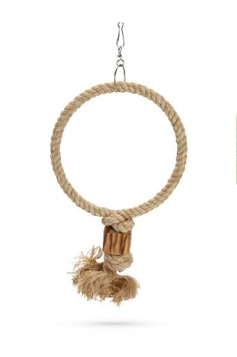 Beeztees Ringy - Vogelspeelgoed - Hout - Bruin - 48 cm