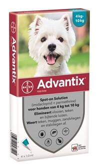 BAYER ADVANTIX SPOT ON 100/500 4-10 KG - 4 PIP - 6 PIP