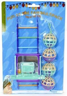 Happy pet MP bal/ladder/perch 22x10x4