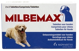 Milbemax tablet ontworming hond Large 2X2 Tabletten