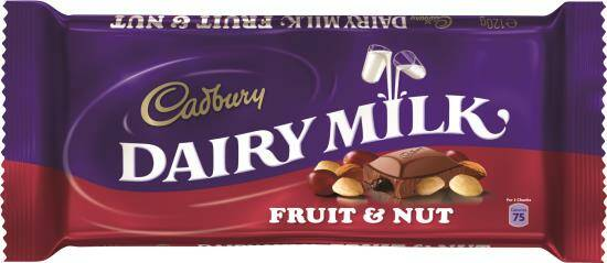 Cadbury fruit & nut 110 gr