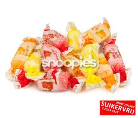 De Bron Fruitjuice Toffee Sugarfree per 200 gram
