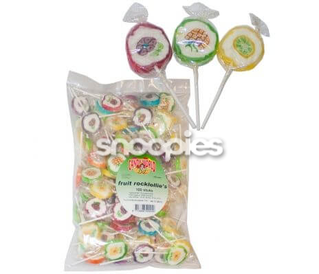 Rock lollies fruit