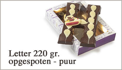 Luxe chocoladeletter V puur